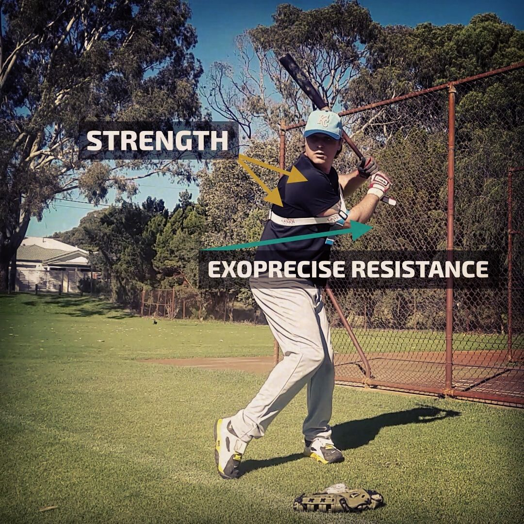 Exopower Science Of Power Batting Practice Baseball Softball Swing Baseball Swing Trainer Bat Speed