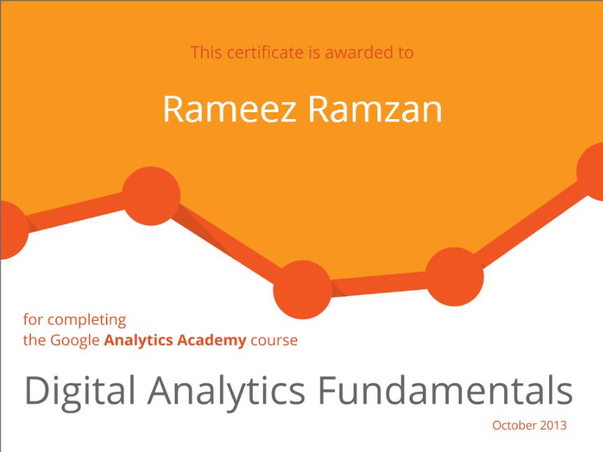 So I Am A Google Analytics Certified Digital Analytics Fundamental