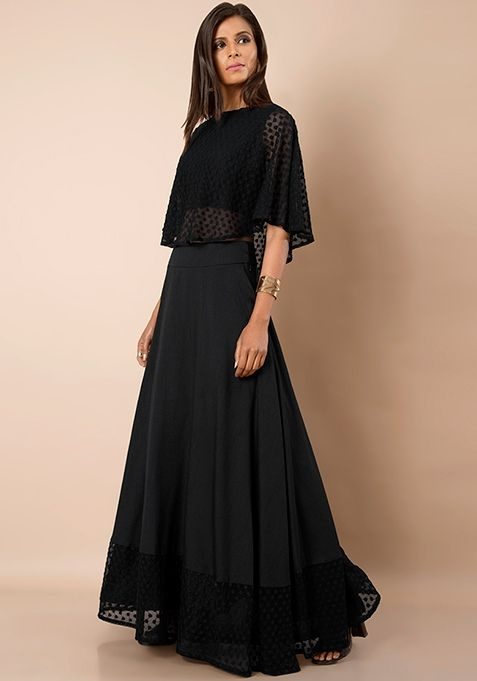 amazing price best selection of 2019 exceptional range of styles and colors Black Silk Embroidered Hem Maxi Skirt | Women's Latest ...