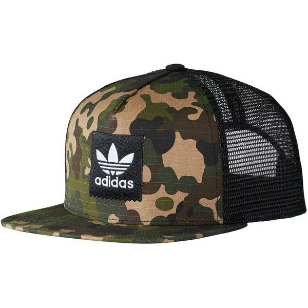1d28697941c Adidas Camo Trucker Hat ( 25) ❤ liked on Polyvore featuring accessories
