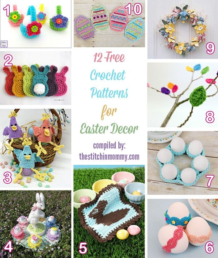 12 Free Crochet Patterns for Easter Decor | Craft Ideas | Pinterest ...