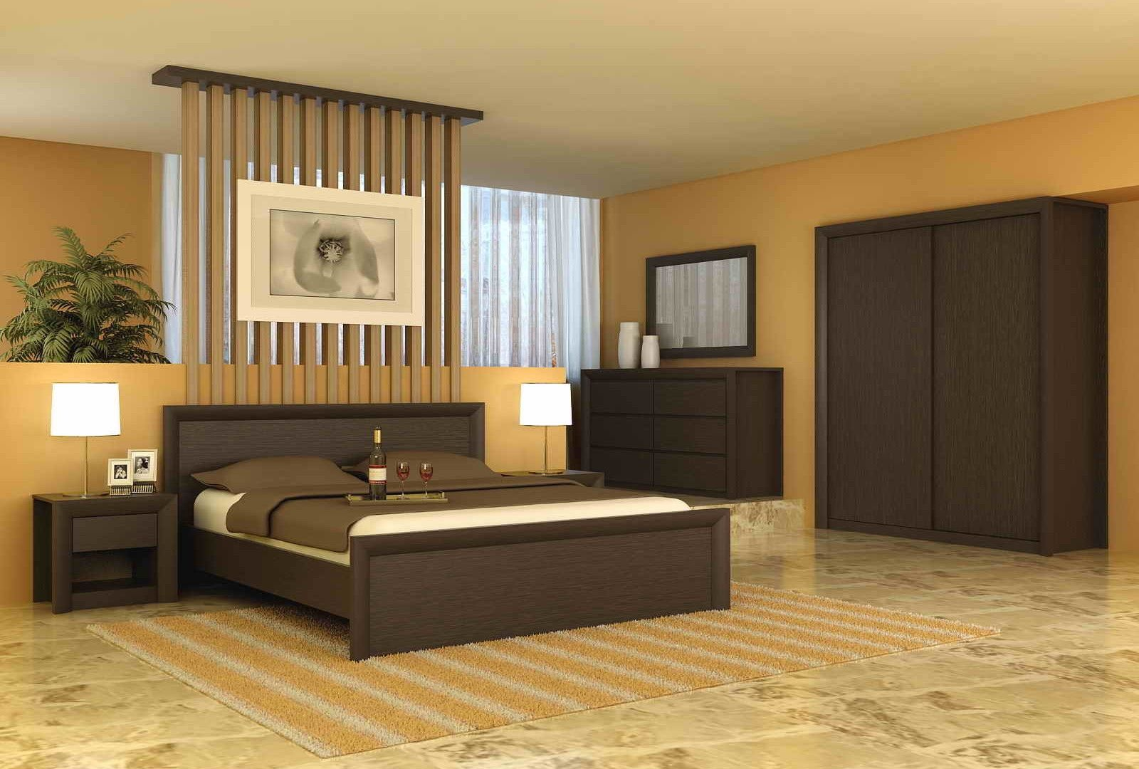 Simple bedroom furniture - Simple Bedroom Wall Wardrobe Design Simple Modern Bedroom Decorating Ideas With Calm Wall Color Shades And