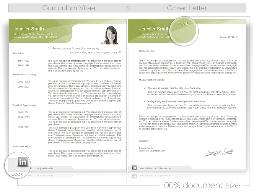 Cv Word Template Cv Templates Give You Full Control Over