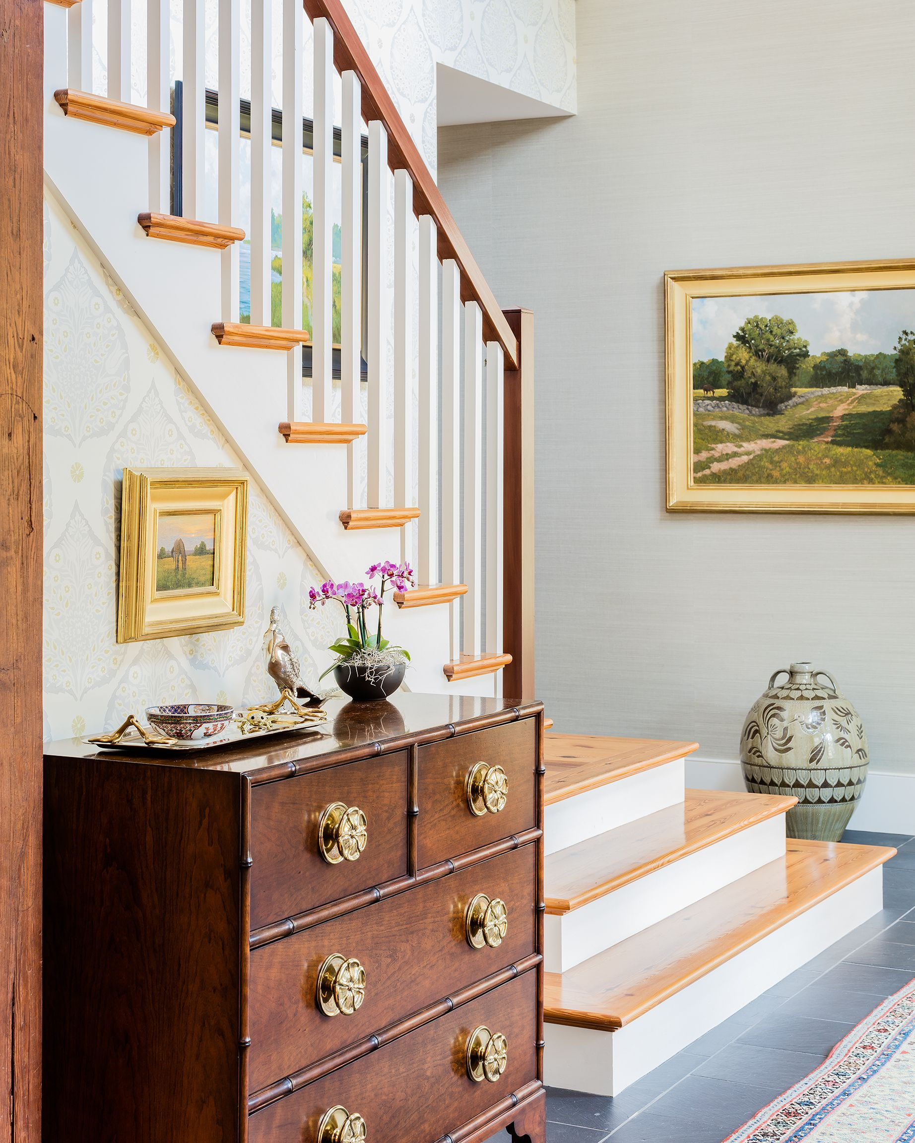 Lovely front foyer By Kathy Marshall of K.Marshall Design Inc.