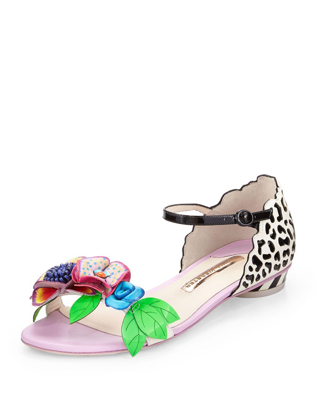 e0186916b8f3 Sophia Webster Lilico Floral Jungle Flat Sandal
