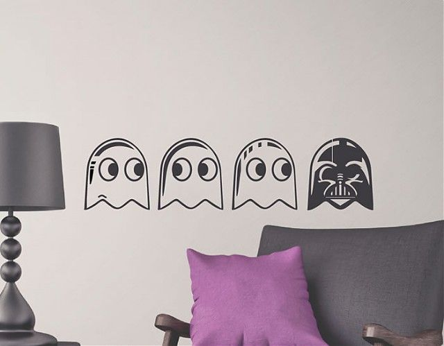 ideas originales para la decoracin de paredes darth vader u pacman