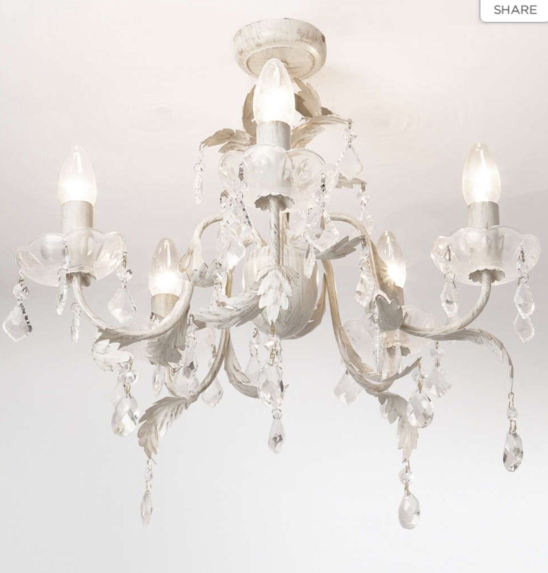 Shabby chic glamorous chandelier lighting ideas pinterest juliette 5 light flush chandelier creamgold creamgold from bhsadd a quintessentially french accent to your drawing or dining room mozeypictures Images