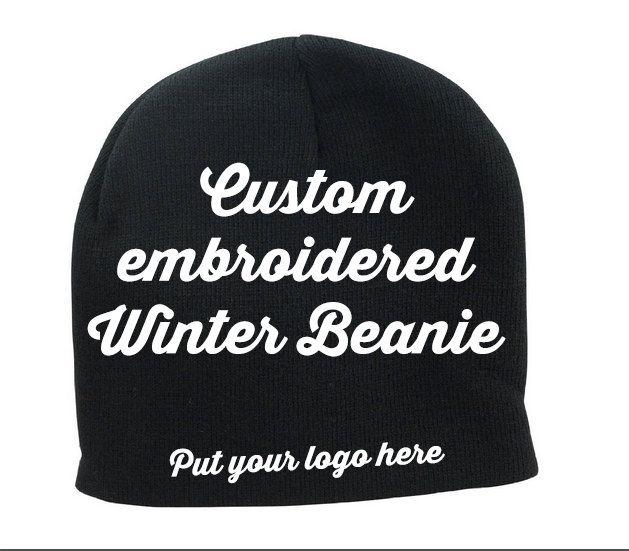 Custom Embroidered Winter Beanie | Custom Embroidered Winter Hat | Winter  Beanie | Embroidered Hat |