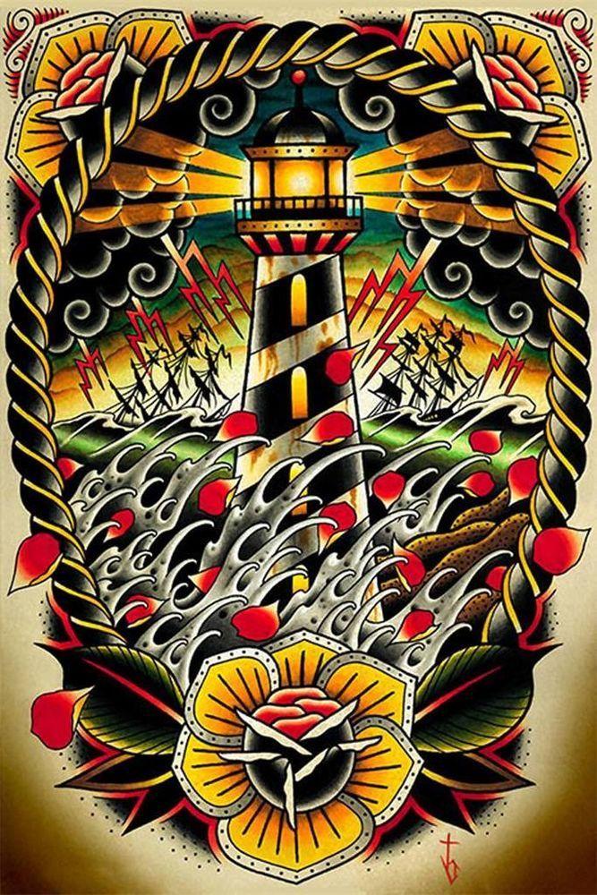 Details about Last Port by Tyler Bredeweg Tattoo Art Print