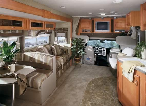 It gives you as much as some Class A motorhomes, but its tight ...