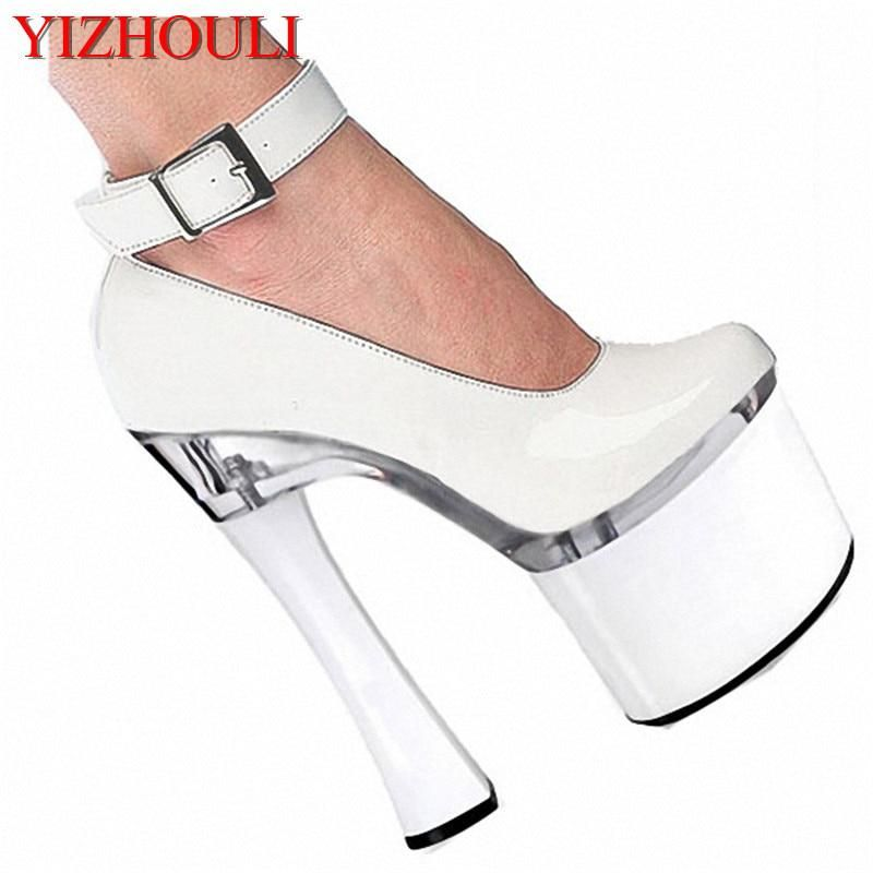 84ebb6016ed5 Spool Heels With Single Shoes Super-Elevation 18CM Women s High-Heeled  Shoes Platform Shoes
