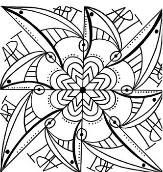 Radial Design Coloring Sheet Coloring Sheets Color
