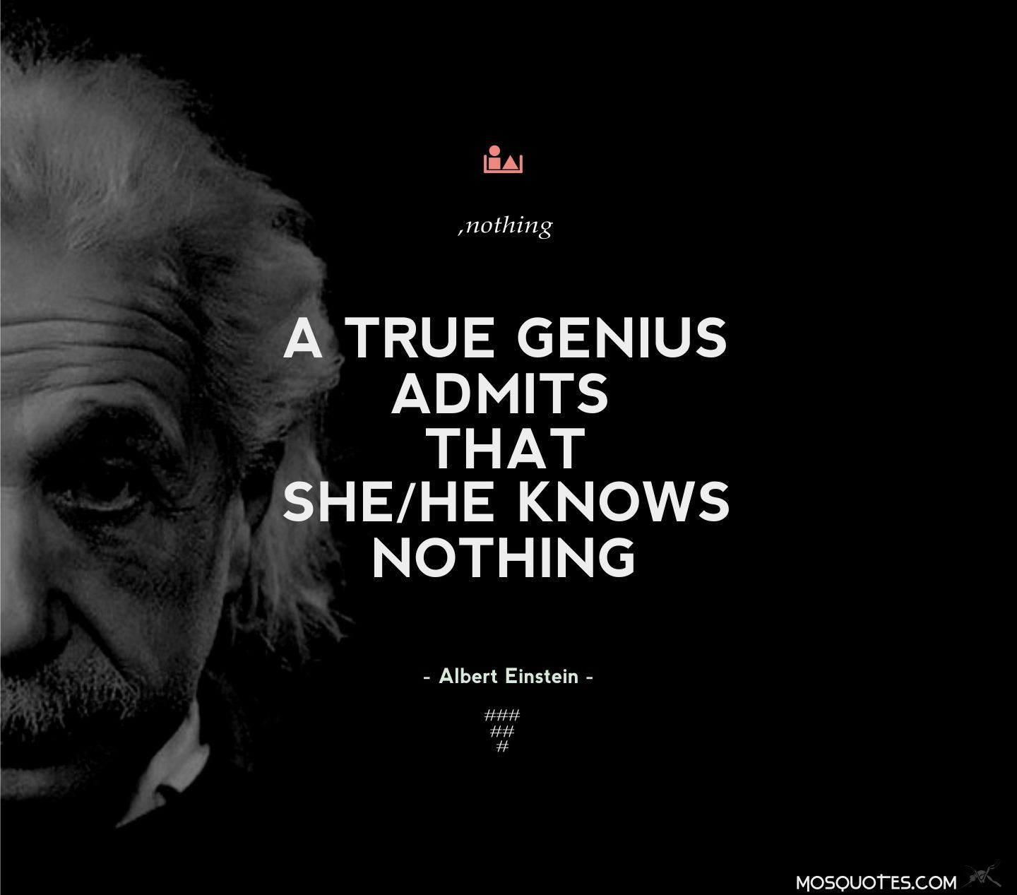 393 Best Images About He Knows Nothing On Pinterest: Albert Einstein Inspirational Quotes A True Genius Admits