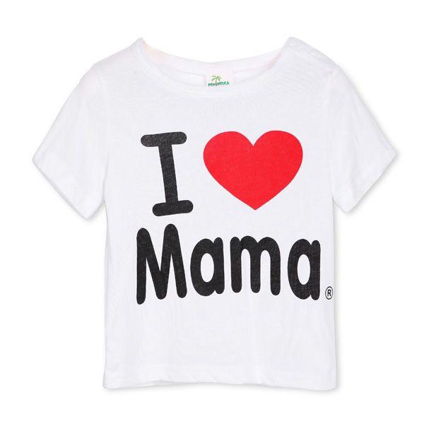 04e69c9c3 Sale 11% (5.72$) - Baby Short Sleeved T-shirt I Love Papa Mama Children  Clothes