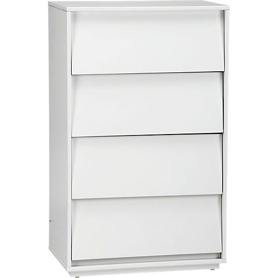 Best Cb2 Shake Tall Chest White Lacquer Dresser Dresser 640 x 480