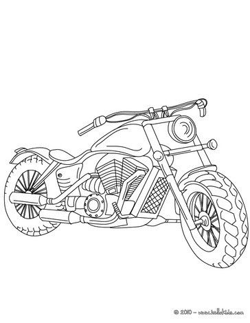 Harley Davidson Coloring Page Coloring Pages Motorcycle Drawing
