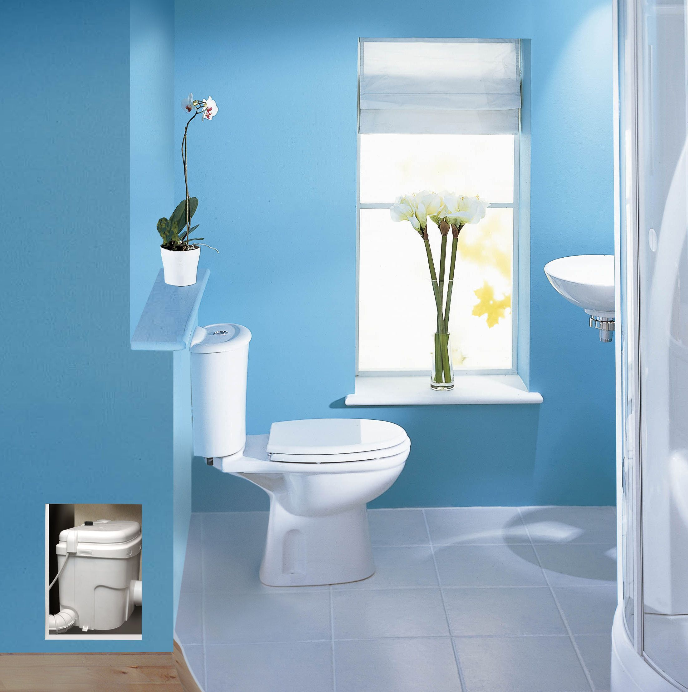 installation ideas beautiful saniflo bathroom awesome furniture venting toilet of upflush