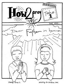 This free coloring book is based on the Lord's Prayer. Use
