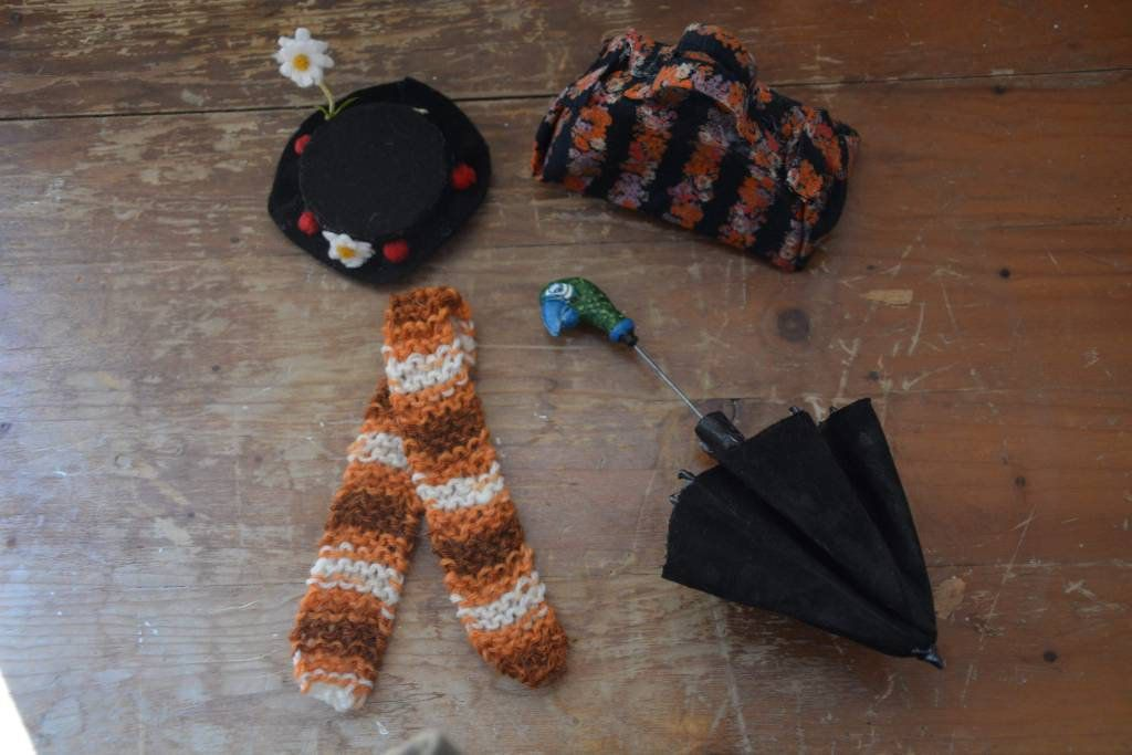 Mary Poppins neddle felted art doll, handmade heirloom ...