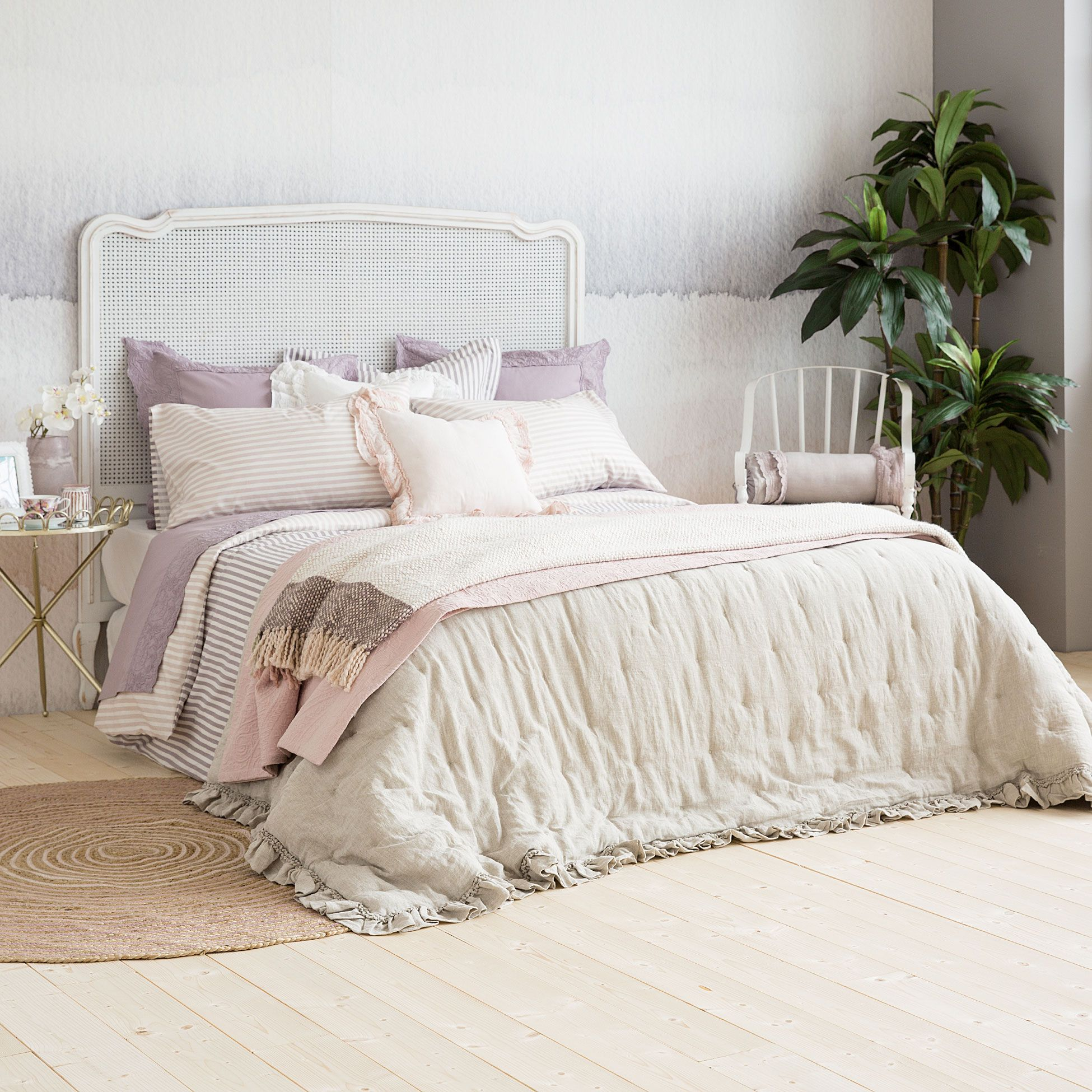 Linen Frill Quilt And Cushion Cover Quilts Bedroom Zara Home