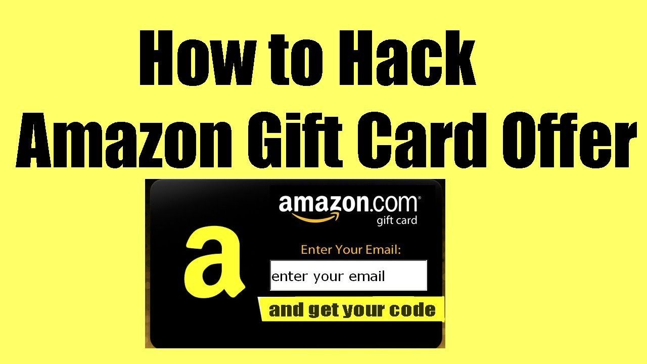 Get Free Amazon Gift Card Code Hack Cheats 100 Legit 2018