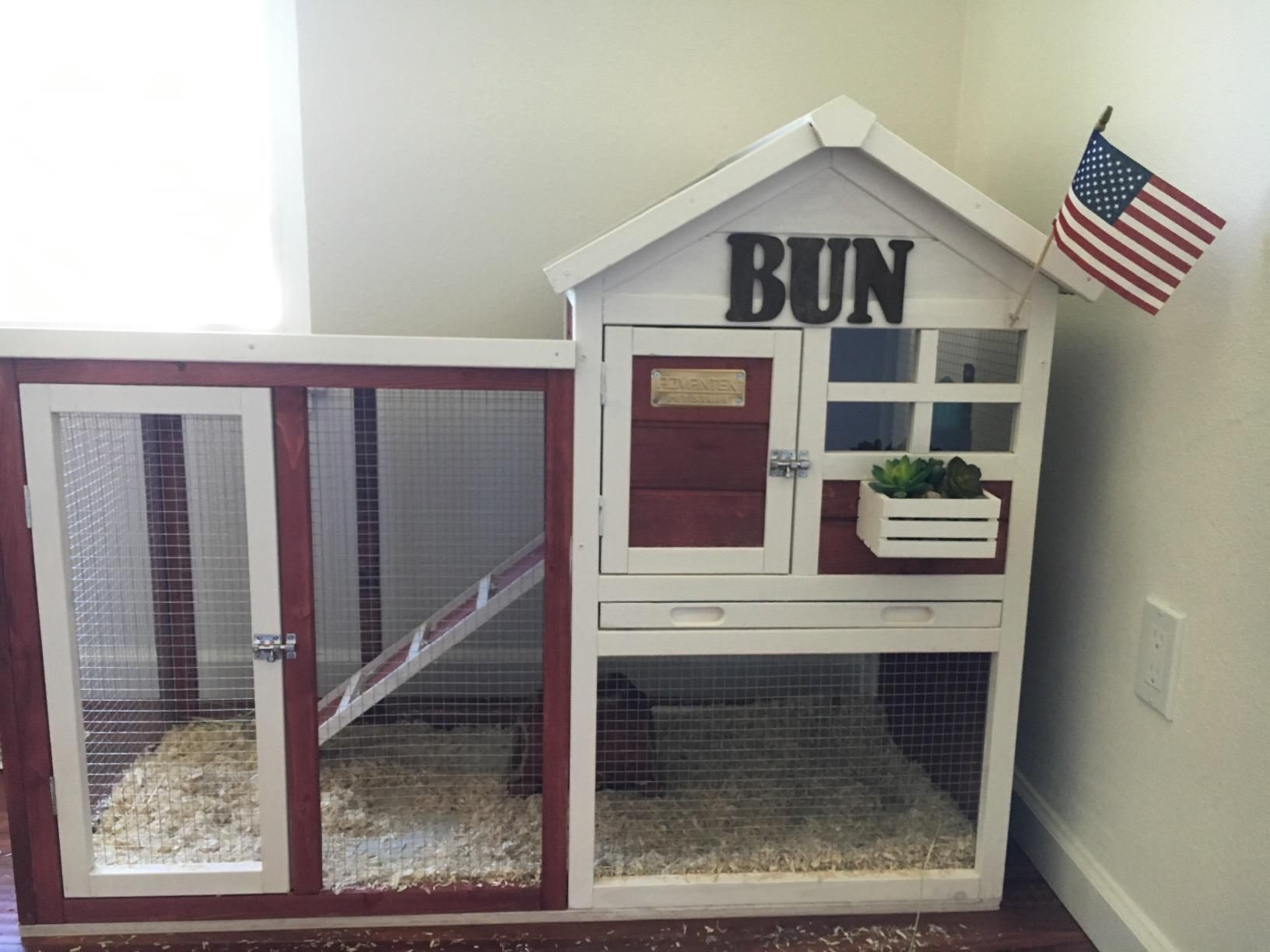 handmade pig wooden and rabbit hutches for guinea run cage with roof outdoor opening sale itm brown frame house hutch