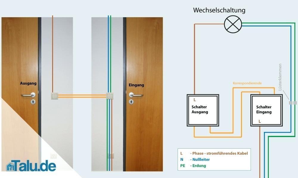wechselschaltung serienschalter schaltplan wiring diagram