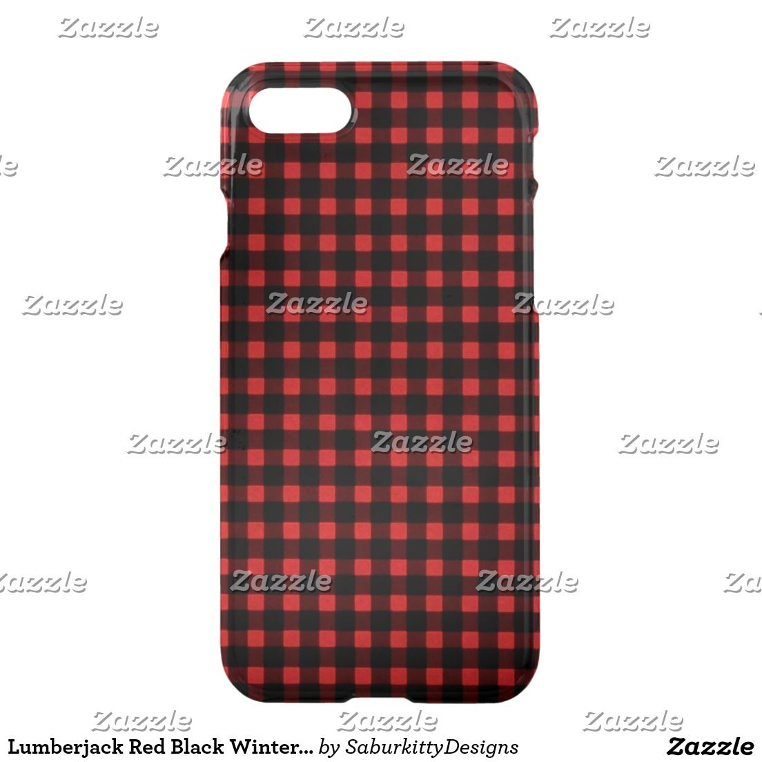 Lumberjack Red Black Winter Buffalo Plaid iPhone 7 Case