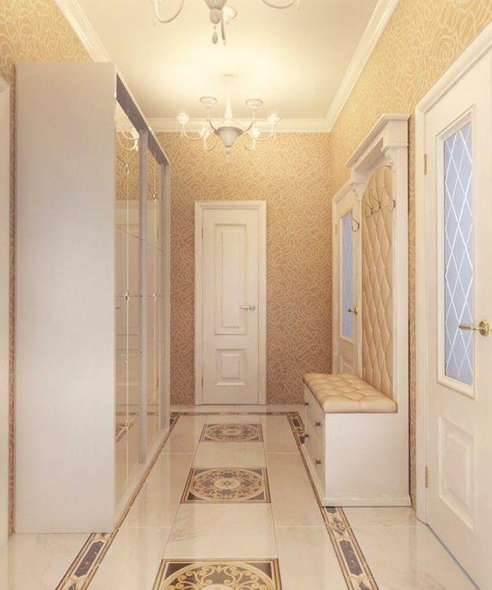 flur einrichten ideen und vorschl ge flur einrichten tapete beige und flur tapete. Black Bedroom Furniture Sets. Home Design Ideas