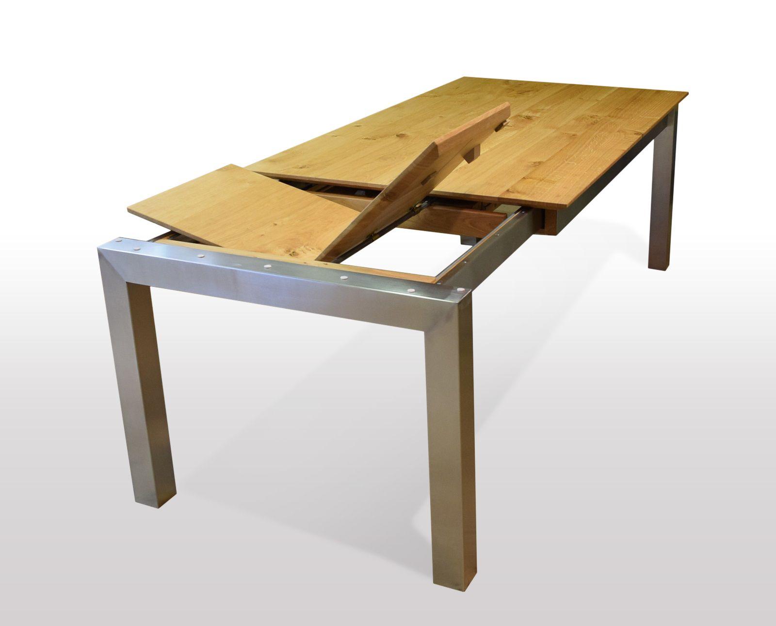 Tisch Wildeiche massiv Breite 120cm / Länge wählbar in