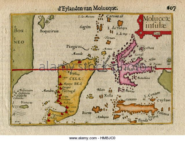 1606 antique map of e indies indonesia molucca is celebes find the perfect banda islands indonesia stock photo gumiabroncs Choice Image