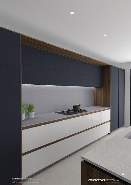 Sleek Lines With This White Gloss Handleless Kitchen And Silestone Worktops White Modern Kitchen Sleek Kitchen Modern Kitchen