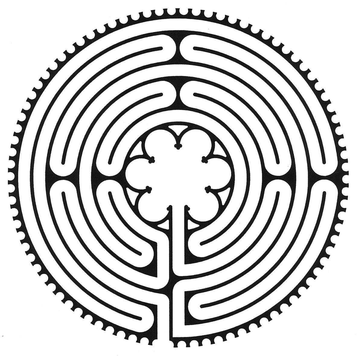 Spirituality Lent Day 7 Path Chartres Labyrinth Labyrinth Maze