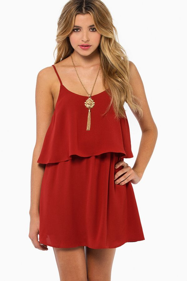 Cute little red dress - for a teenager or young woman