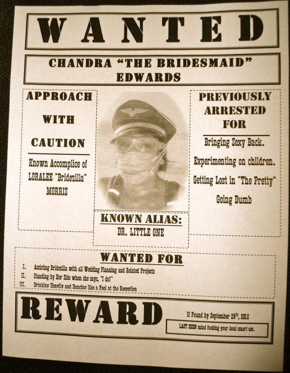 Bridesmaid Invitations (Wanted Posters) : wedding bridesmaids black ...