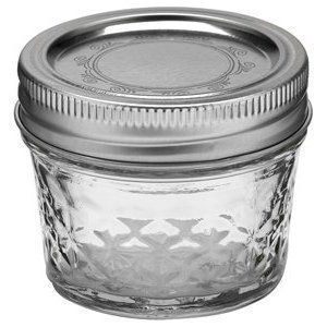 Ball Quilted Jelly Canning Jar 4 Oz., Case of 12 by JARDEN HOME BRANDS.  Have to use this when making my jelly in my new ball jelly/jam maker.
