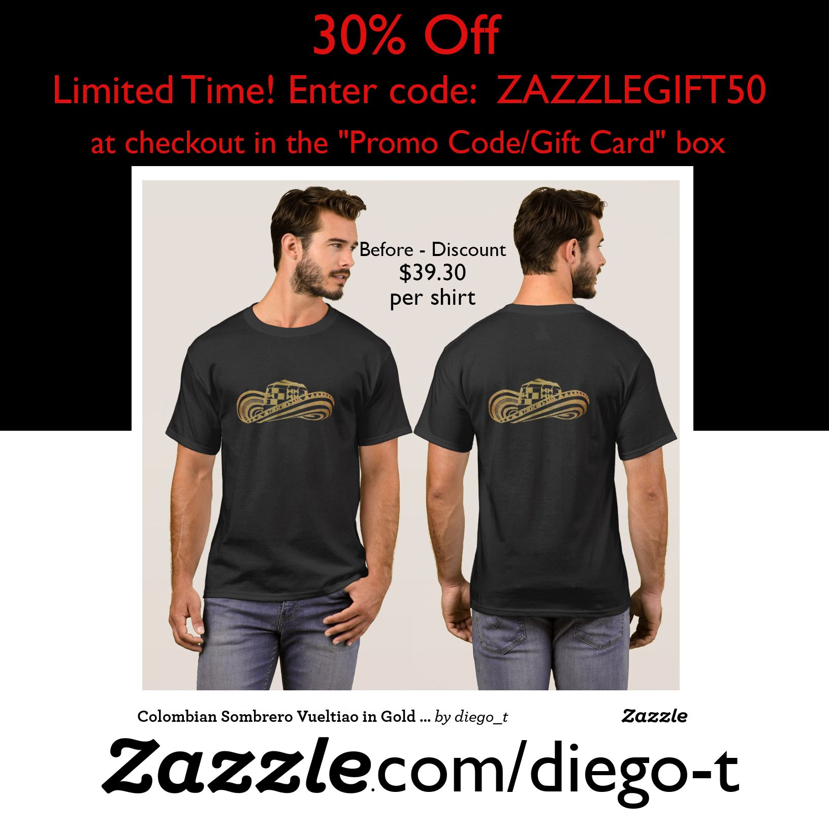 Colombian Sombrero Vueltiao in Gold Leaf T Shirt Zazzle