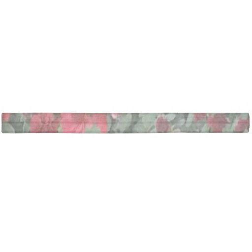 Red flowers hair wrap ribbon hair tie