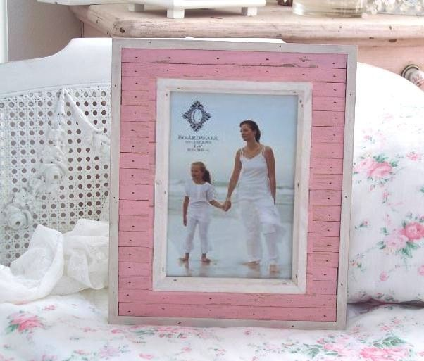 Shabby pink beach wood cottage chic frame | Pink beach, Cottage chic ...