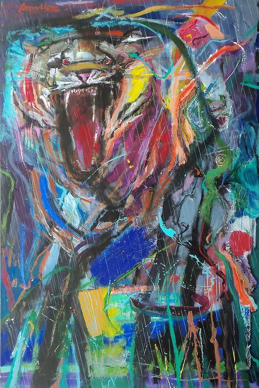 Tigre en la maleza.  Roberto Broullon