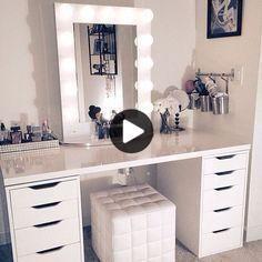 Vanity pystytys | Kaksi ALEX IKEA 5-laatikostoja ($ R80 kukin tarkoittaa) + LINNMON IKEA pöydässä
