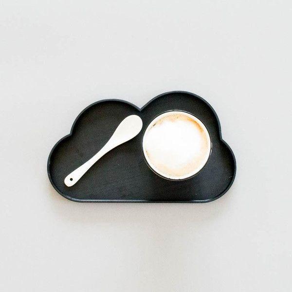 """Tablett+""""Wolke""""+schwarz+-+3D+Druck+von+stijlleben+auf+DaWanda.com"""