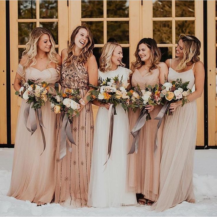 Wedding Bridesmaid Dresses Neutrals Cream Tan Blush Wedding Bridesmaid Dresses Neutral Bridesmaid Dresses Matching Bridesmaids Dresses