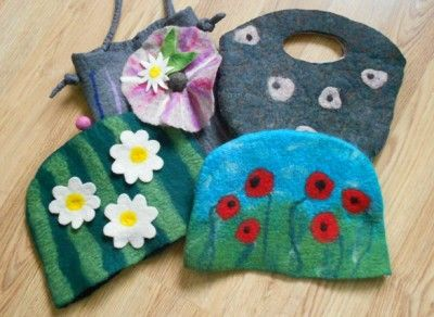 felt bags and tea cosies