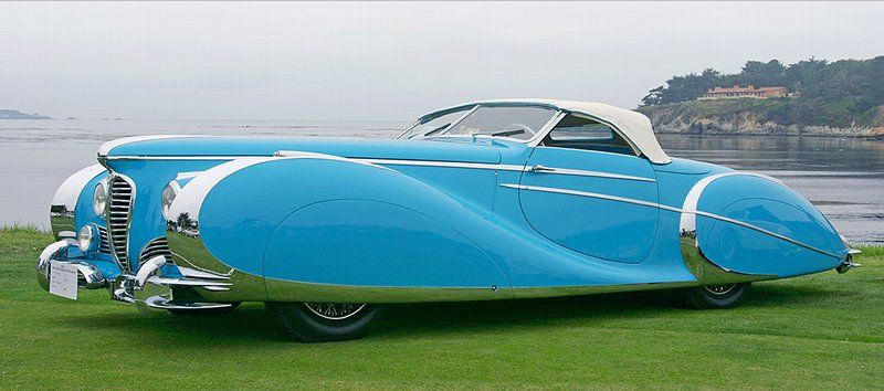 1949 Delahaye 175 Saoutchik - crazily overstyled but fab!