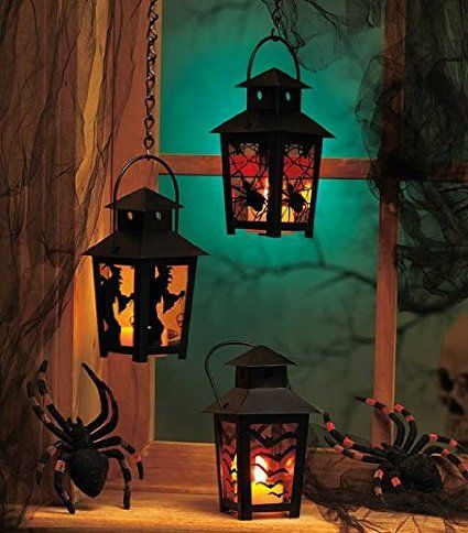 Amazon: Set of 3 Spooky Halloween Black Lantern w/ LED Battery Operated Tealight Candle Only $28.48 Shipped - Raining Hot Coupons