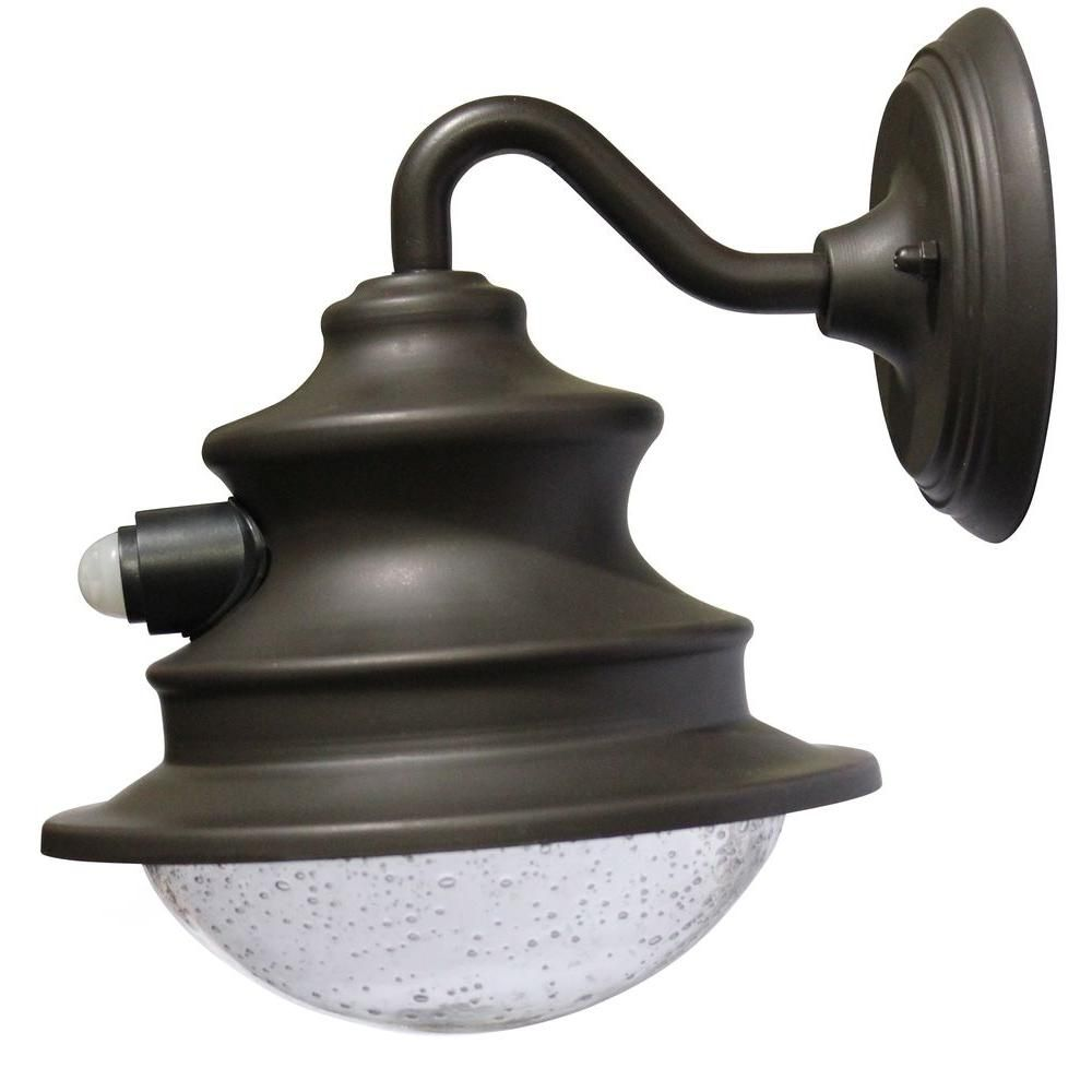 Barn Solar Brown Outdoor Integrated Led Wall Light With Motion Sensor