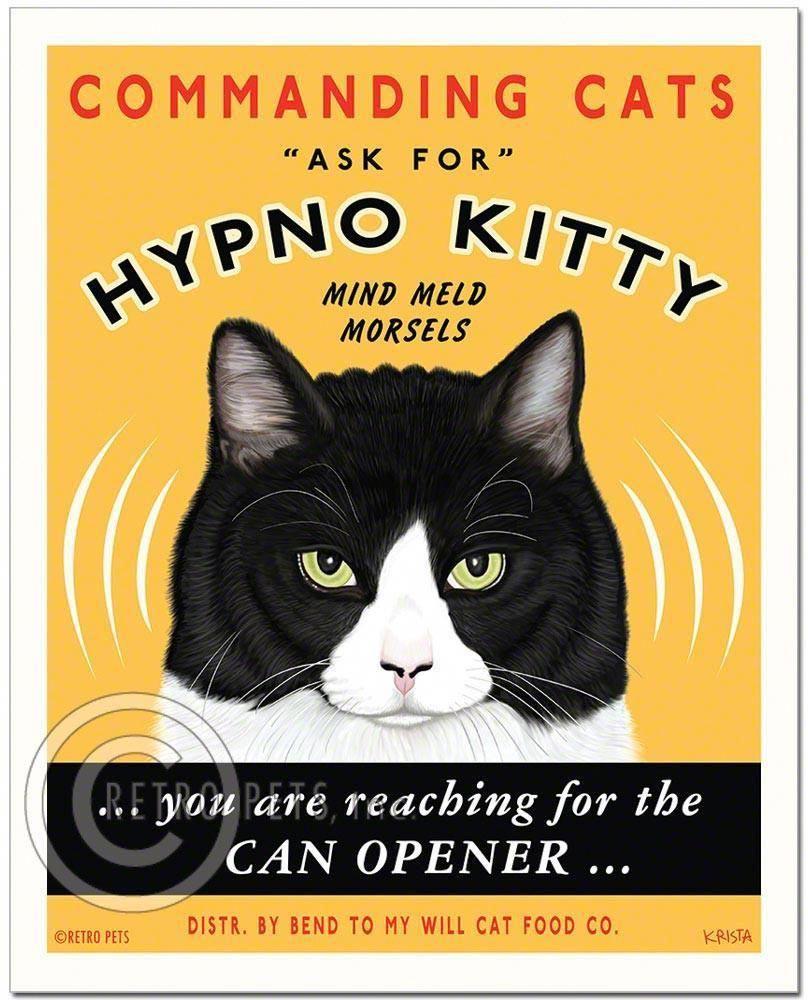 Cat Art Hypno Kitty Art Print By Krista Brooks Cat Art Cats Cat Posters
