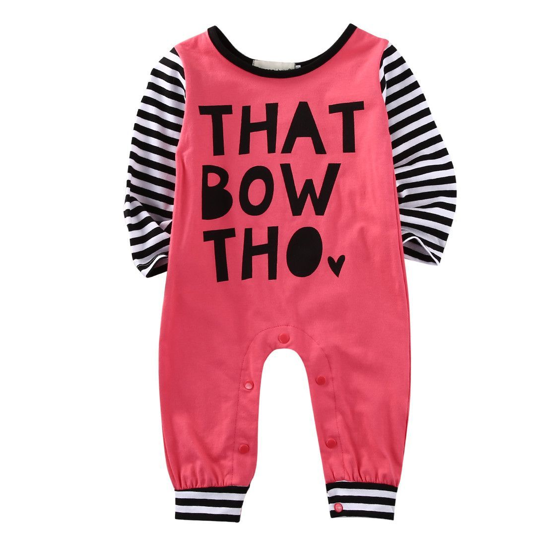 That Bow Tho Baby Girl Romper Babies Girls And Babies Clothes
