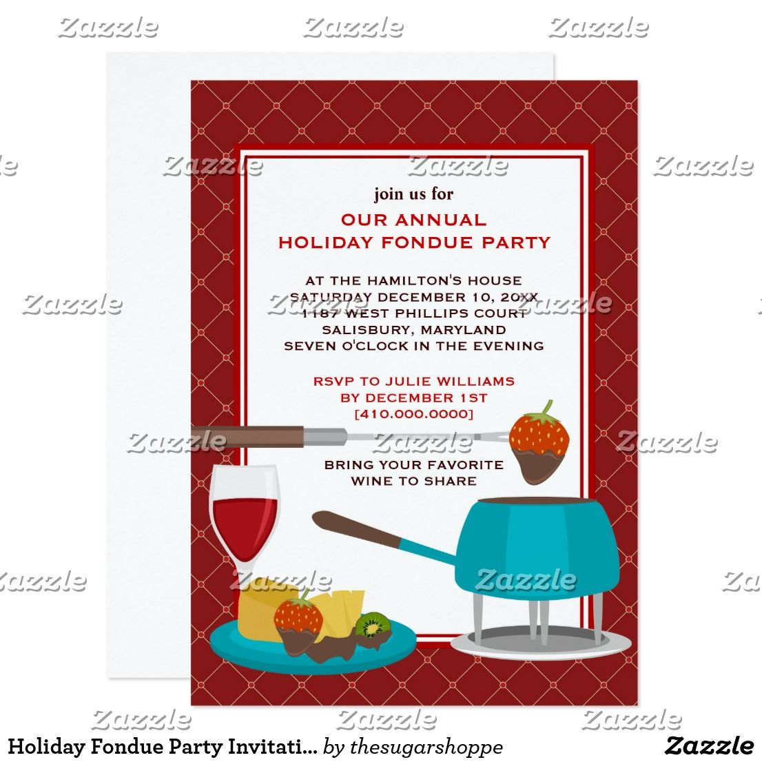 Amazing Fondue Party Invitations Vignette - Invitation Card Ideas ...